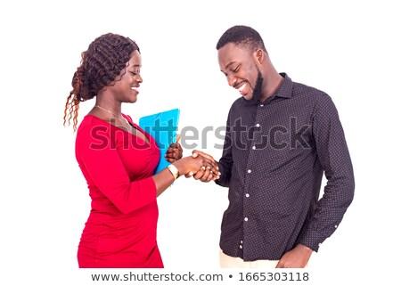 ストックフォト: 女性実業家 · 手 · 外に · 準備 · ぶれ