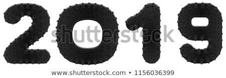 2019 new year black leather symbol bdsm Stock photo © orensila