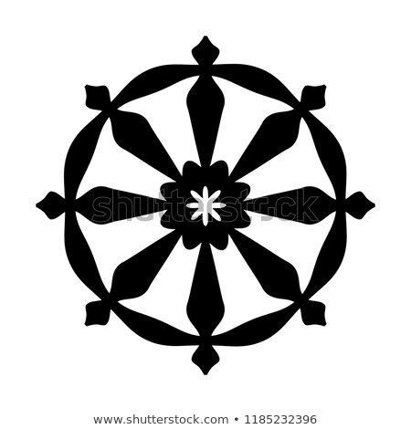 Wheel of Samsara — Symbol of Reincarnation, the cycle of death and rebirth (Sacral sign of all India Stock photo © Glasaigh