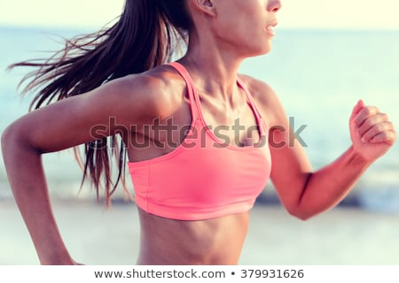 Long hair woman Sports & exercise Stock photo © toyotoyo