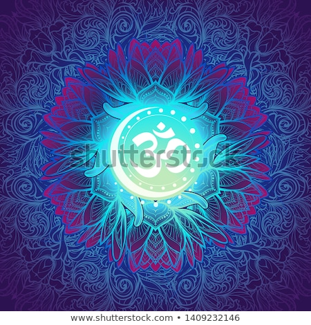 Symbol of Om with turquoise Stock photo © blackmoon979