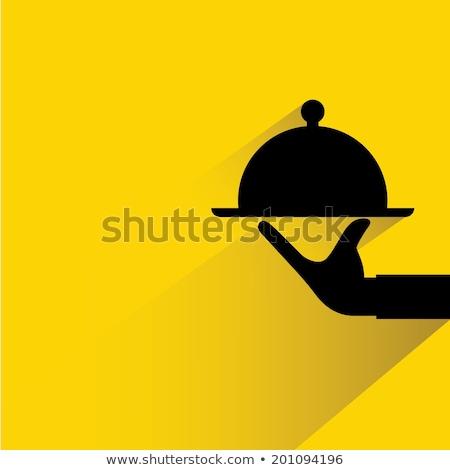 şef siluet imzalamak simge vektör sanat Stok fotoğraf © vector1st