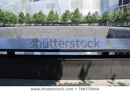 Memorial waterfalls in World trade center site, New York city Stock photo © boggy