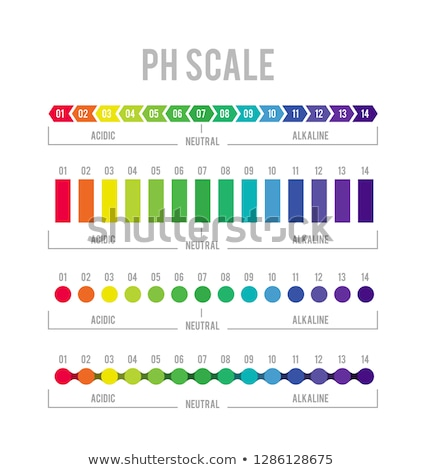 pH meter for measuring acid alkaline balance. Vector infographics in the circle form with pH scale Stock photo © m_pavlov