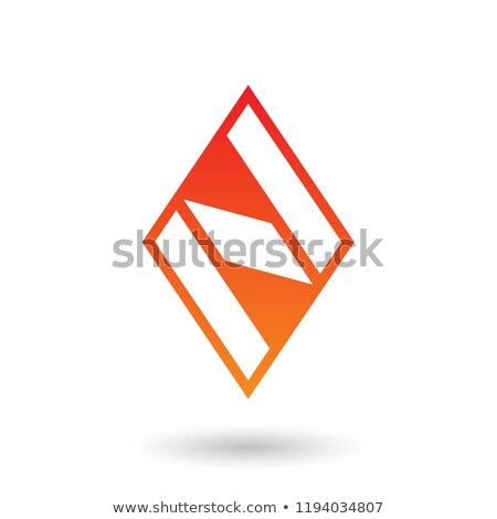 Stockfoto: Rood · oranje · diamant · vector