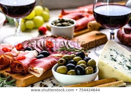 Italiaans antipasti wijn snacks ingesteld catering Stockfoto © Illia
