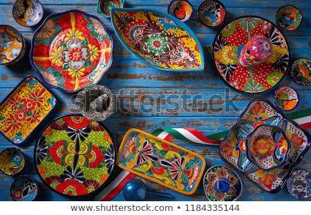 Mexicaanse aardewerk stijl Mexico hand verf Stockfoto © lunamarina
