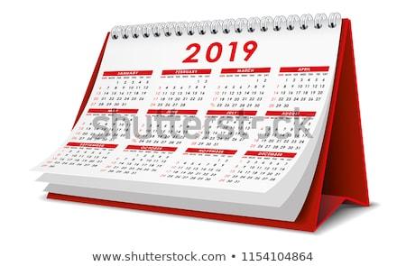 2019 year. Calendar for June. Isolated 3D illustration Stock photo © ISerg
