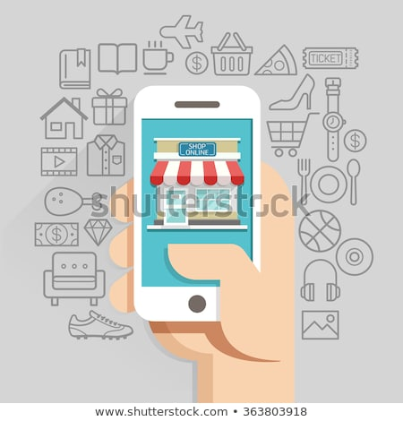 pizza mobile shop carts vector illustration store stock photo © robuart