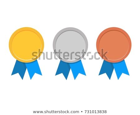Silver and Gold Medals Set Vector Illustration Stock photo © robuart