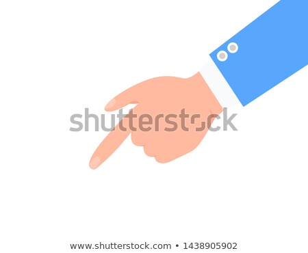 Forefinger and Male Arm in Blue Suit Color Poster Stock photo © robuart