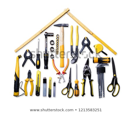 High Angle View Of Various Worktools Stock photo © AndreyPopov