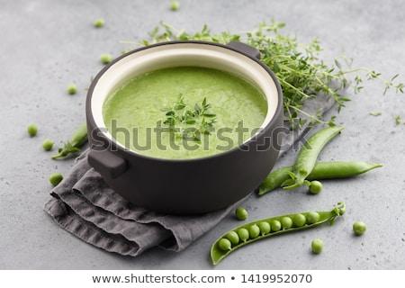 vert · crème · soupe · préparé · restaurant · hôtel - photo stock © dash