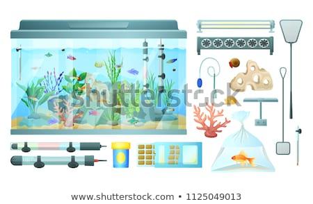 eléctrica · ventilador · blanco · metal · azul · viento - foto stock © robuart