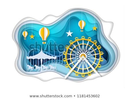 楽しい 遊園地 テンプレート 実例 デザイン 芸術 ストックフォト © bluering