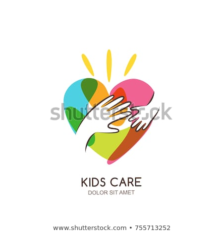 concept of protection and love of child baby vector illustration Stock photo © konturvid