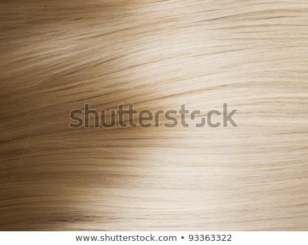 Primo piano lusso lucido capelli biondi dritto texture Foto d'archivio © tommyandone