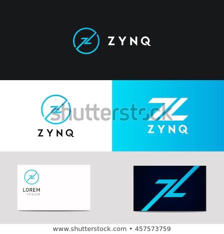 Z betű logotípus kék logo felirat vektor Stock fotó © blaskorizov