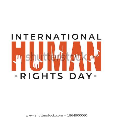 Direitos humanos dia teia bandeira social igualdade Foto stock © cienpies