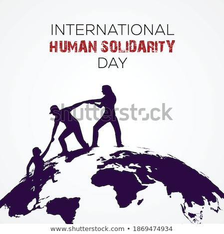 humanismo · solidariedade · dia · cartão · mulher · ajuda - foto stock © cienpies