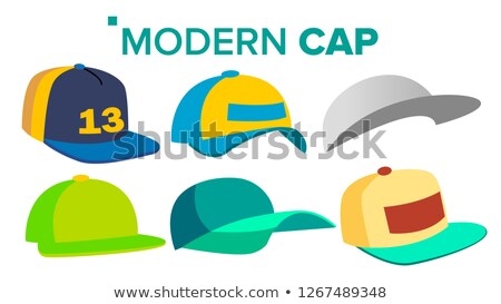 summer cap set vector man woman headwear sport uniform for children and adult isolated cartoon stock photo © pikepicture