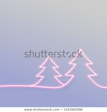 Mínimo néon árvore texto espaço fundo Foto stock © SArts