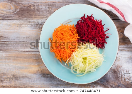 Makaronu Sałatka żywności warzyw krem posiłek Zdjęcia stock © zoryanchik