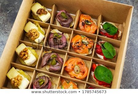 Delicioso evento prato morango queijo pepino Foto stock © ruslanshramko