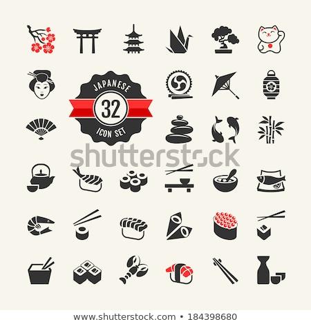 Japan icons set Stock photo © netkov1