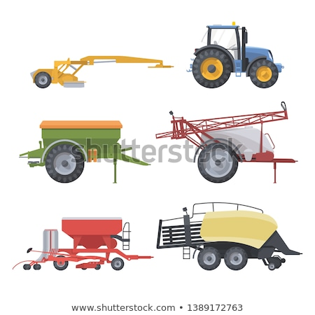Zugmaschine Maschinen Set Plakate Fahrzeug fahren Stock foto © robuart