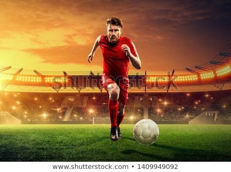 Futball játékosok fut tevékenység futball gyufa Stock fotó © matimix