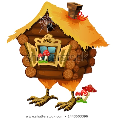 wooden house of baba yaga isolated on white background the character of russian folk tales vector stock photo © lady-luck