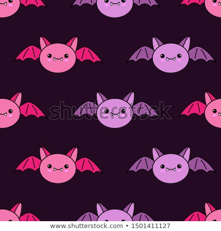 Cute Vampire Bat Cartoon Character Flying Stock photo © hittoon