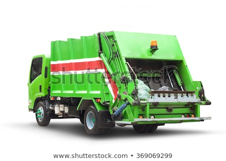 Isolated garbage truck on white background Stock photo © bluering