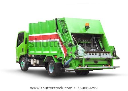 Odizolowany śmieci ciężarówka biały ilustracja tle Zdjęcia stock © bluering