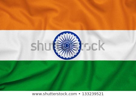 botão · Índia · mapa · caixa · bandeira · país - foto stock © colematt