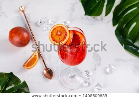 Chilled tropical aperol orange cocktail  Stock photo © grafvision