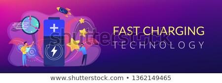 Fast charging technology concept banner header. Stock photo © RAStudio