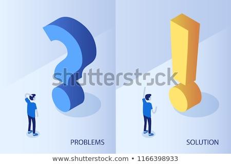 3D · zakenman · nadenkend · vraagteken · zakenlieden · illustratie - stockfoto © rastudio