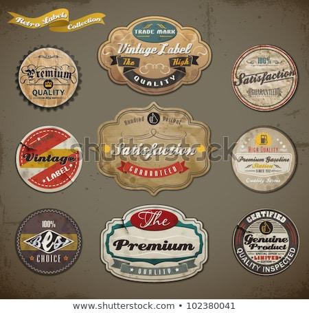 Color vintage advertising emblem Foto stock © netkov1