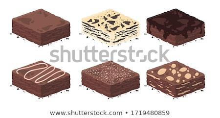 vector set of brownies Stock photo © olllikeballoon