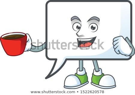 Cartoon cup with a caption balloon Stock photo © bennerdesign