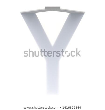 垂直 ドロップ 影 フォント 手紙 3D ストックフォト © djmilic