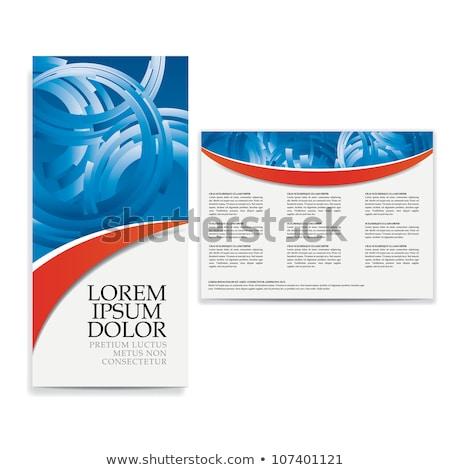 stylish red modern brochure design template Stock photo © SArts