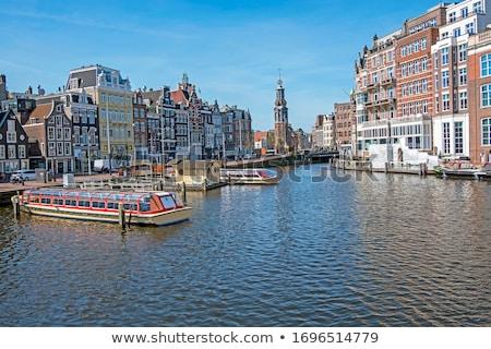 Torre Amsterdam Países Bajos canal centro caída Foto stock © neirfy