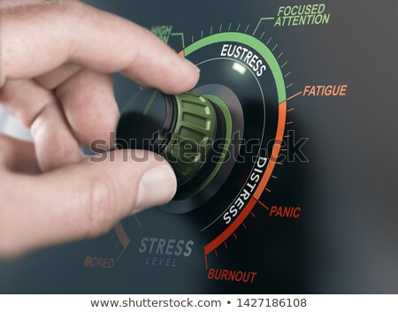 Pozitív stressz vezetőség kéz kapcsoló szint Stock fotó © olivier_le_moal