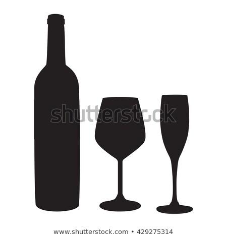 Champán agua vidrio aislado iconos vector Foto stock © robuart