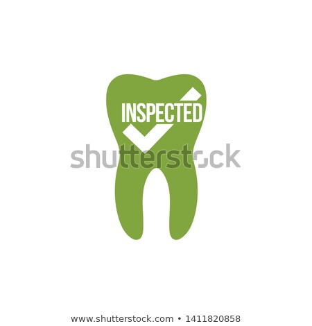 tooth icon with a check mark, inspected tooth, medical care concept. Vector illustration isolated on Stock photo © kyryloff