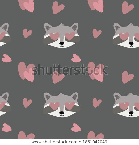 Valentine's day card with raccoon Stock photo © balasoiu