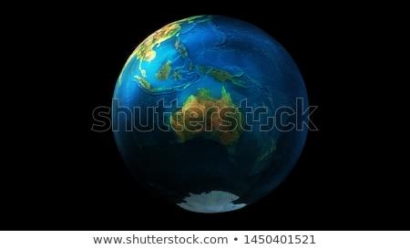 земле · пространстве · Азии · Focus · подробный · 3d · визуализации - Сток-фото © conceptcafe